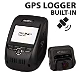 """Rexing V1P Pro Dual 1080p Full HD Front and Rear 170 Degree Wide Angle Wi-Fi Car Dash Cam with Built-in GPS Logger, Supercapacitor, 2.4"""" LCD Screen, G-Sensor, Loop Recording, Mobile App"""