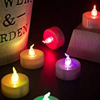Pack of 30 SmartLight/™ Colour Changing Flameless LED Tea Light Flickering Candles Tealights Batteries Included