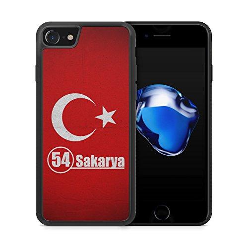 Sakarya 54 Türkiye Türkei iPhone 7 SILIKON TPU Hülle Cover Case Schale Tasche Turkey Bayrak