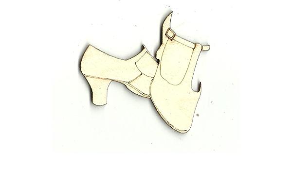 Laser Cut Out Unfinished Wood Shape Craft Supply CLT47 Pump Shoe