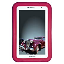 """Bobj Rugged Case for Samsung 7-inch Galaxy Tab 2 and Galaxy """"Tab Plus"""" Wi-Fi and 3G/4G Models (Not for Tab3) - BobjGear Protective Tablet Cover - Rockin' Raspberry"""