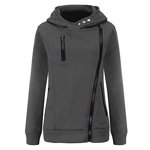 Jacket Big Promotion! KIKOY Women Long Sleeve Plus Velvet Thickened Hooded Sweater Zipper Coat