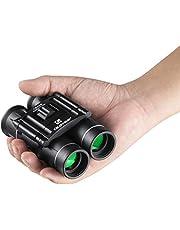QUNSE mini-zakverrekijker, 10x25 compacte opvouwbare verrekijker Telescoop met waterdicht voor volwassenen/kinderen/reizen/ bezienswaardigheden bekijken/jagen/vogels kijken