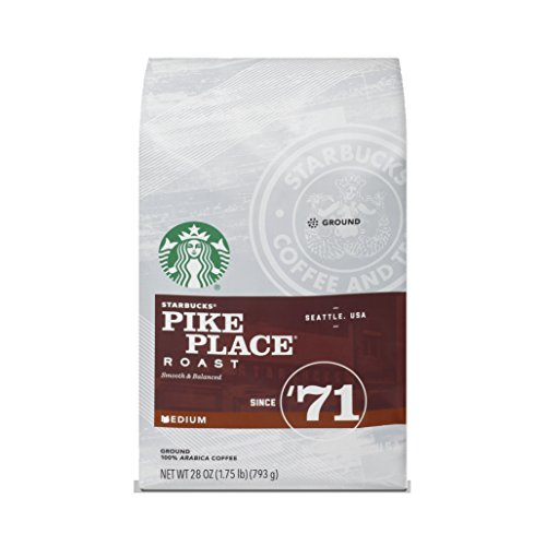 Starbucks Pike Place Roast Medium Roast Ground Coffee, 28-ounce bag