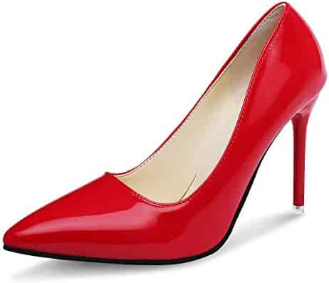 ccbee082ec KUNSHOP Women's Closed Toe Platform Pumps Sexy High Heel Shoes Slip On  Stiletto Pumps for Weeding