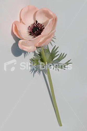 Single-Artificial-Fresh-Touch-Peach-Anemone-Silk-Peach-Poppy