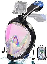 Smart Snorkel Mask 2021 Upgrade Electric Air Circulation Full Face Snorkeling Masks No Fog No Leaking No Choki