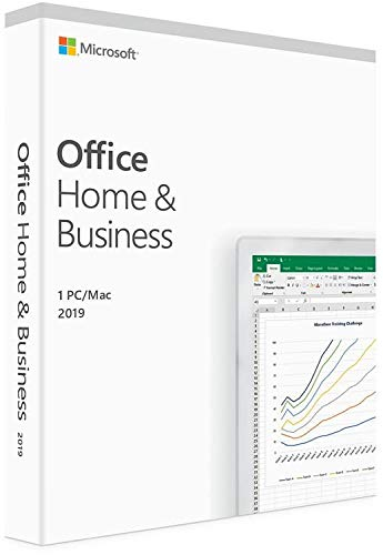 Microsoft Office 2019 Home and Business | Product Key Card | Retail Box USA | Compatible with Mac/Windows 10 / Mac OS - GP Xtreme (Activation Key For Business In A Box)