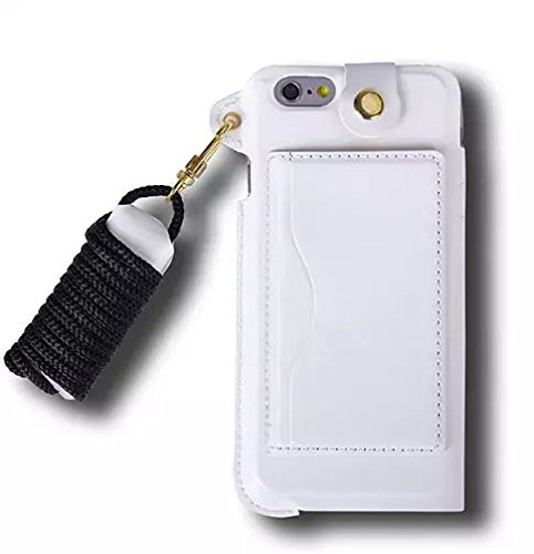 official photos 094a1 977a4 Apple iphone 6 plus/6s plus Neck Strap case, Heliant PU Leather Case ...
