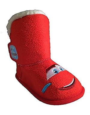 Disney Pixar Lightning McQueen Cars Red Boots (Infant/Toddler)