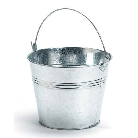 Set of 2-Galvanized Metal Pail Buckets Size: 6'' Tall X 7-3/4'' Diam by Unknown