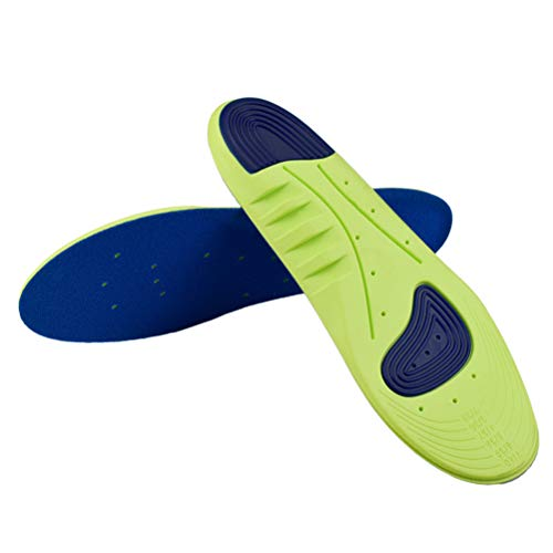 Healifty Sports Insoles Breathable Shoe Pads for Running(Cyan Size 39-46)