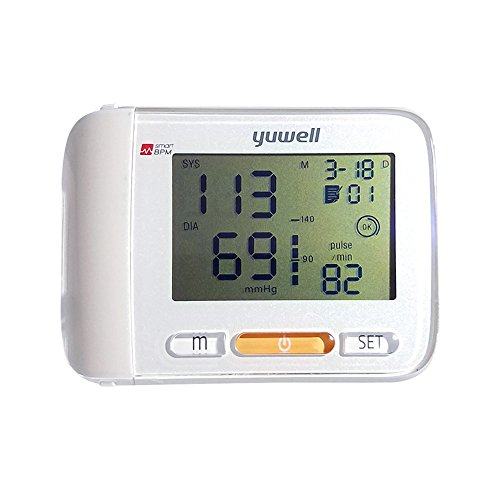 Yuwell Automatic Blood Pressure Monitor Digital Blood Pressure Cuff Monitor Portable Case Irregular Heartbeat Bp And Adjustable Wrist Cuff 5 3 7 7 Inch