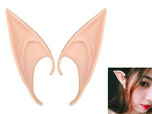 (HAPTIME Cosplay Fairy Ears Soft Pointed Fake Elf Elven Vampire Ears Tips)