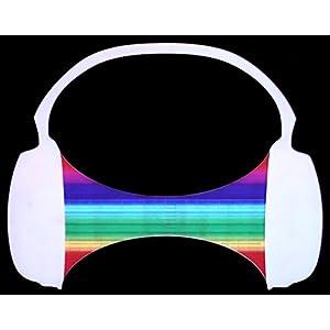 Ucult LED Equalizer T-Shirt Headphones Headphones DJ Party Shirt Light Clothing