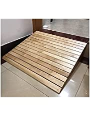 7-15 cm Rise Solid Wood Curb Ramps, Portable Non-Slip Threshold Ramps Kit Set for Loading Dock, Sidewalk, Car, Truck, Scooter, Bike, Motorcycle