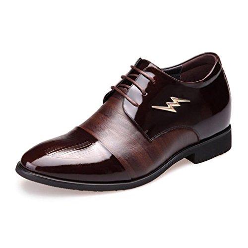 CAI Formale Schuhe der Männer 2018 Vierjahreszeiten Mens Leder Geschäfts Kleid Schuhe/unsichtbares Innere Erhöhen/Wies Hochzeits Schuhe/Buumlro/Partei Kleid Schuhe (Farbe : Braun  Größe : 41) Braun