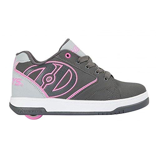 Heelys HE100041H Kid's Propel 2.0 Sneakers, Charcoal/Grey/Pink - 5