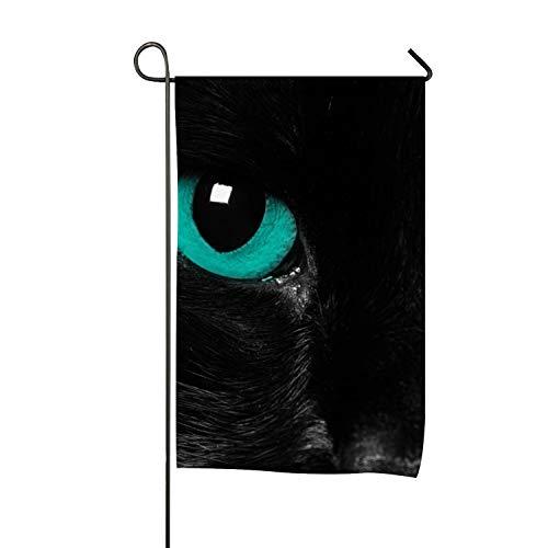 Flag, Eyes Black Cat Design, Campsite Flag, Motorhome Decor, Trailer Camping Flag, Garden Yard Decorations, Camp Host Flag, Outdoor Flag 12 x 18
