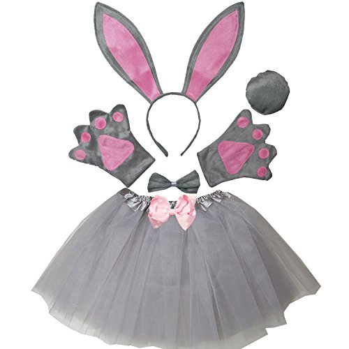 Kirei Sui Kids Easter Bunny Costume Tutu Set Gray (Bunny Costumes For Kids)