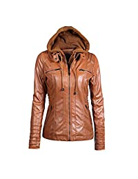 Women Plus Size Zipper Moto Biker Faux Leather Outerwear Coat Jackets Tops