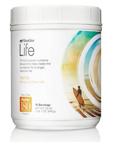 Shaklee Life Energizing Shake delicious non-GMO protein shake with pre- and probiotics -Vanilla flavor (net wt. 23oz)15 servings by Shaklee
