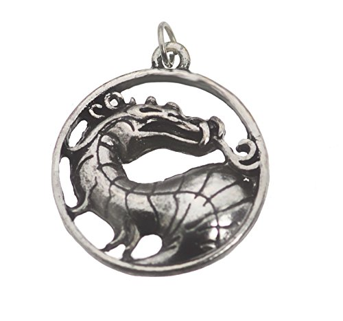Prince of Diamonds Mortal Kombat Solid Sterling Silver 925 Dragon Charm Pendant MK X Jewelry New ()
