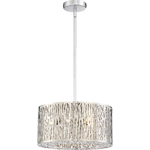 Collection Grotto (Quoizel PCGO1816C  Platinum Collection Grotto 6-Light Pendant, Polished Chrome)