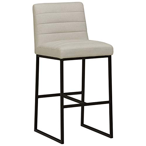 (Rivet Decatur Modern Kitchen Counter Bar Stool 42 Inch Height, Chalk )