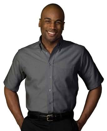 Edwards Men's Short Sleeve Oxford Shirt, BLACK, 2XLarge