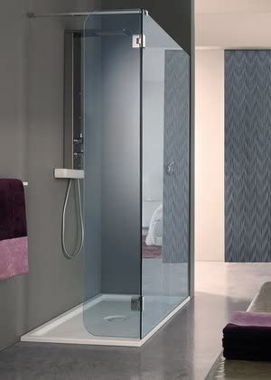 Mampara de ducha a la italiana fijo Open Side fixbat con puerta battante cristal Securit 8 mm: Amazon.es: Bricolaje y herramientas