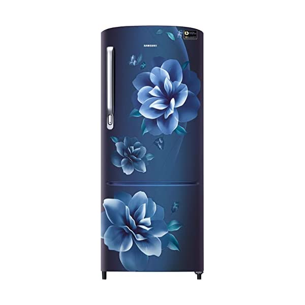 Samsung 230 L 3 Star Inverter Direct-Cool Single Door Refrigerator (RR24T275YCU/NL, Camellia Blue) 2021 July Direct-cool refrigerator : Economical and Cooling without fluctuation Capacity 230 liters: Suitable for families with 2 to 3 members and bachelors Energy rating 3 Star : high efficiency model