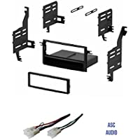 ASC Single Din Car Stereo Install Dash Kit and Wire Harness for 2005-2010 Scion tC, 2004-2006 Scion xA, 2004-2014 Scion xB, 2008-2014 Scion xD, 2007-2010 Toyota FJ Cruiser, 2007-2011 Toyota Yaris