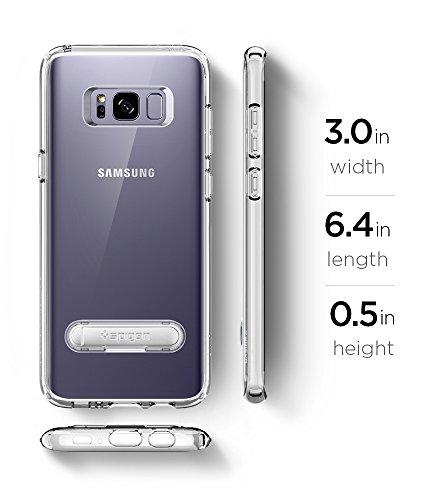 Spigen Ultra Hybrid S Galaxy S8Plus Funda con cojín de aire tecnología y cierre magnético función atril de metal para Samsung Galaxy S8Plus (2017)–Midnight negro UHS_Transparente