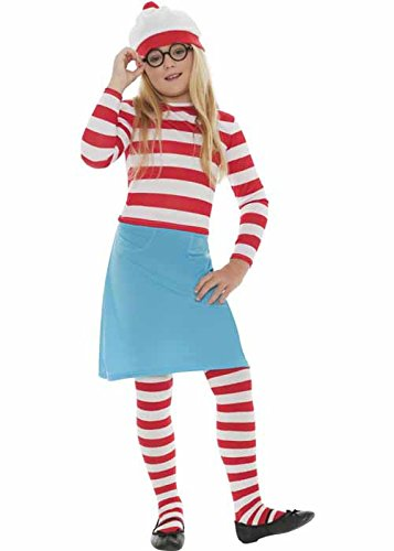 [Kids Wheres Wally Wenda Costume Small (4-6 years)] (Wheres Wally Fancy Dress Kids)