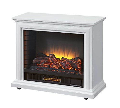 Pleasant Hearth GLF-5002-50 Sheridan Mobile, White Electric Fireplace