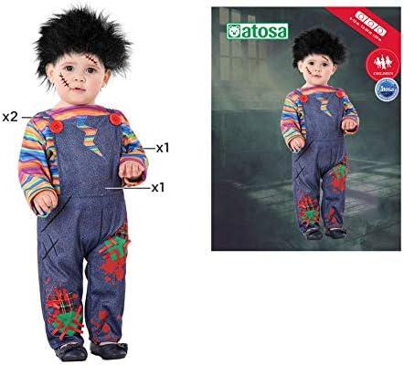 Atosa-61254 Atosa-61254-Disfraz Muñeco-Bebé niño, Color gris, + 24 ...