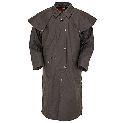 Outback Trading Oilskin Low Rider Duster, Brown, X-Large (Western Jackets For Men)