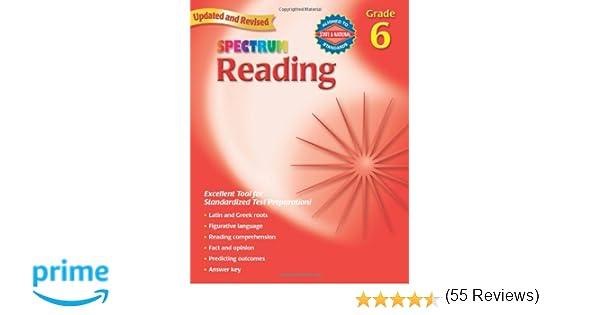 Amazon.com: Reading, Grade 6 (Spectrum) (9780769638669): Spectrum ...
