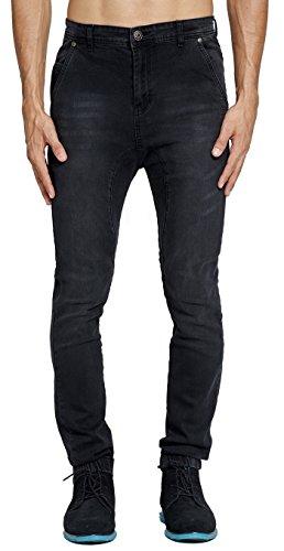 Mrpick Men's Drop Crotch Stretch Denim Jogger Jeans