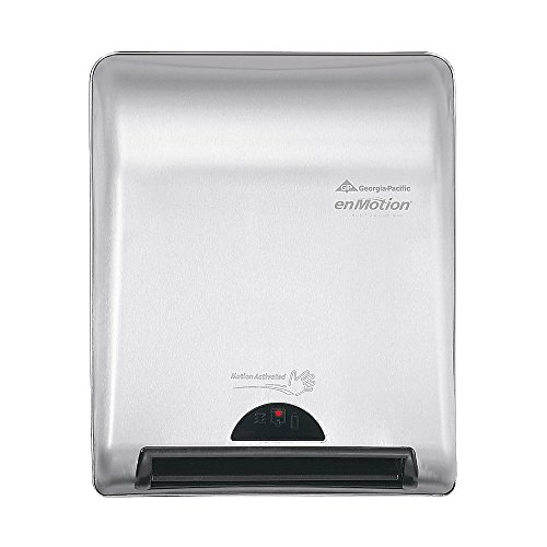 GP PRO enMotion 8'' Recessed Automated Touchless Paper Towel Dispenser, Silver by GEORGIA PACIFIC CORP (Image #1)