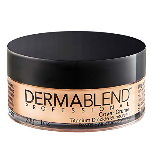 Dermablend Cover Creme Full Coverage Cream Foundation with SPF 30, 1 Oz. (Best Foundation To Cover Pimples)