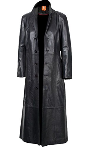 ather Men's Long Coat Glossy Black Sheepskin for Sale on Amazon (XS) ()