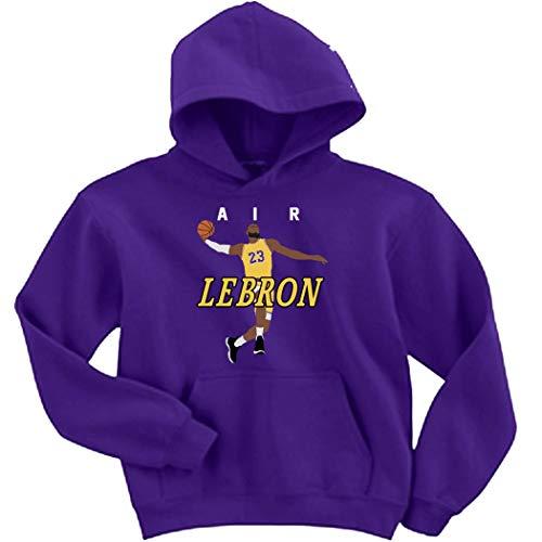 Purple Los Angeles Lebron AIR PIC Hooded Sweatshirt Youth (Lebron James Best Pics)