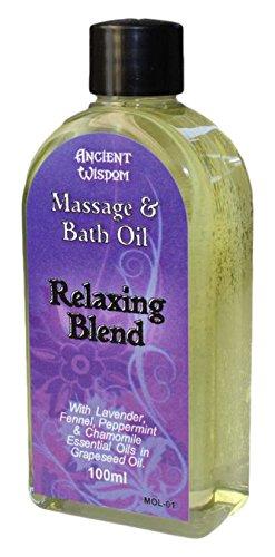 Massage Oil 100ml Bottle - Relaxing