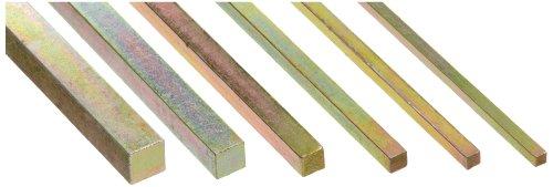 Steel Key Stock Assortment, Gold Dichromate Finish, Metric, 12