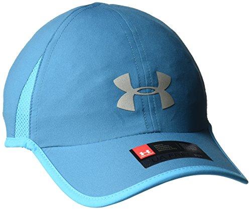 Under Armour Mens Shadow 4.0 Run Cap, Bayou Blue (953)/Silver, One Size