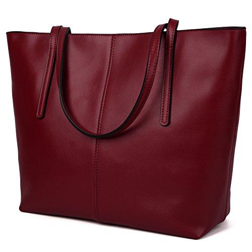 YALUXE Capacity Leather Closure Shoulder