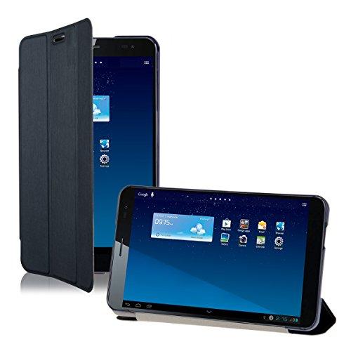kwmobile Smart Cover Case für Huawei MediaPad X1 7.0 mit Ständer - Schmale Ultra Slim Hülle aus Kunstleder in Dunkelblau