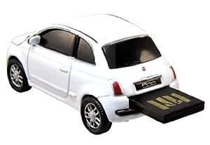 Autodrive Fiat 500 4GB USB 2.0 Color blanco unidad flash USB - Memoria USB (USB 2.0, USB 2.0, Type-A, 125 x 60 x 60 mm, Otro, Color blanco)